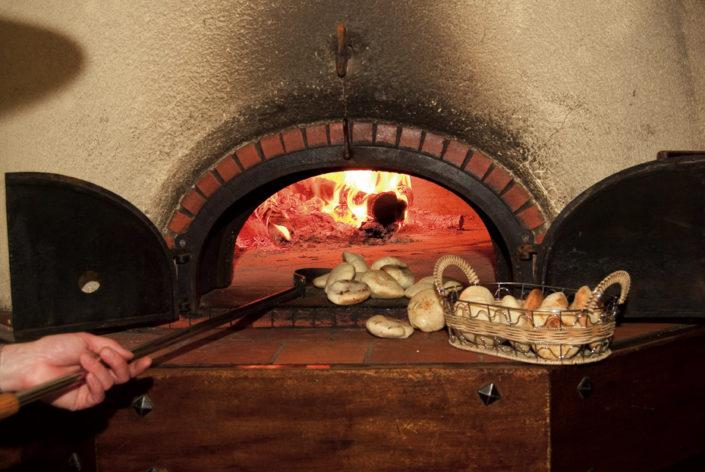 Fouées cuites au four à bois